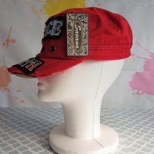 Savana Accessories - NWT SAVANA Peace - Love - Faith - Red Hat